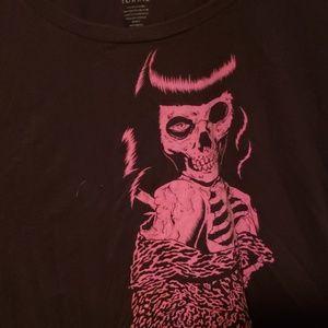 Zombie pin up t shirt